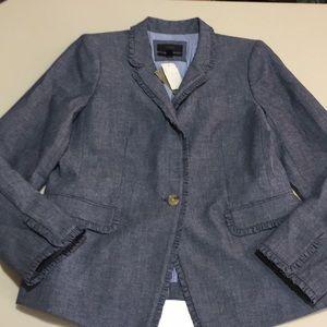 NWT J.Crew chambray regent blazer size 14